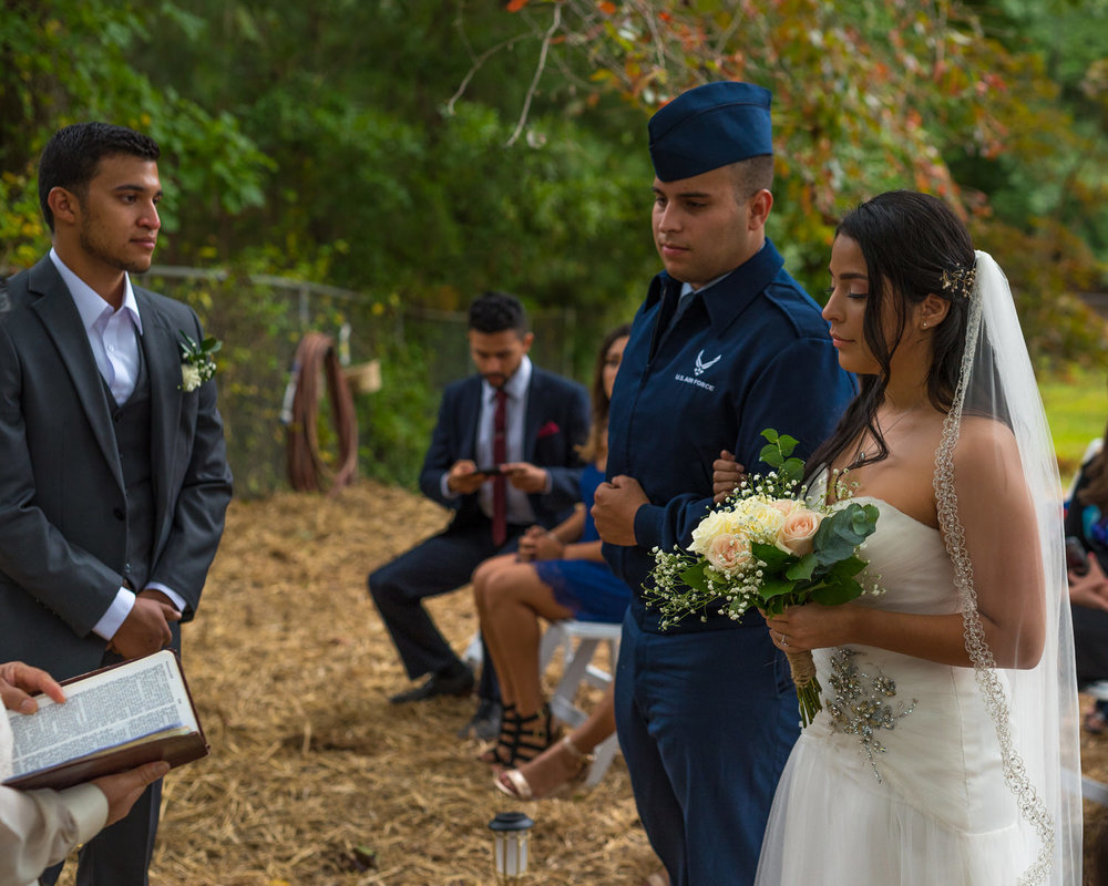 Kennesaw GA, Emotional Bride approaching groom