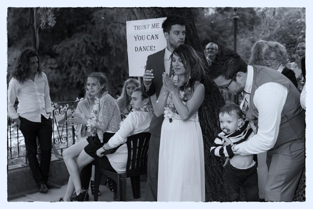 Wedding Reception Guests Dancing  near Bristol UK