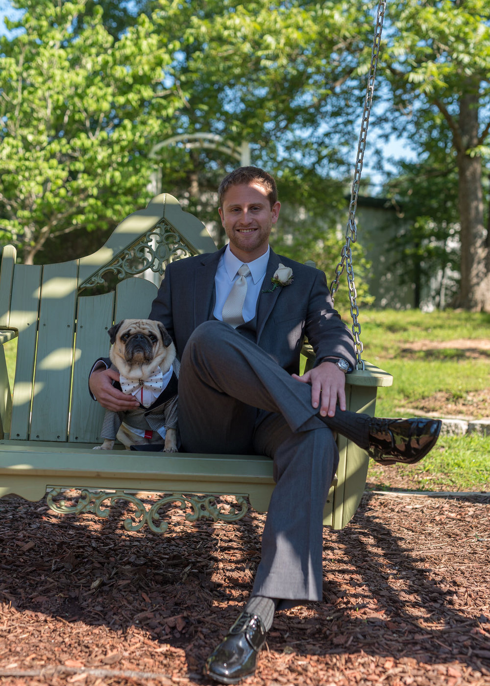 The Garden Swing, Groom and Pug