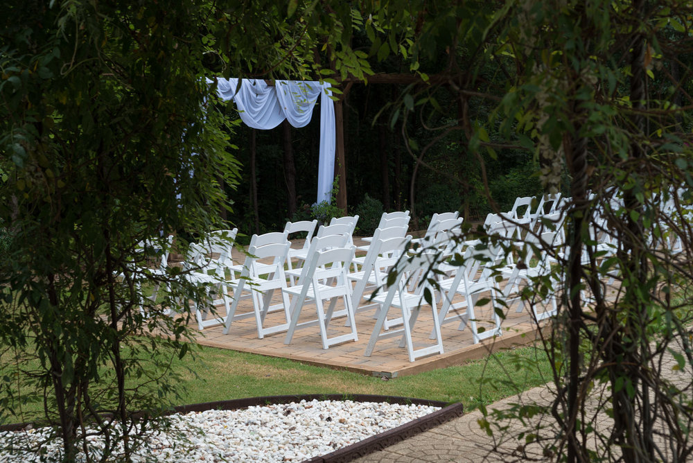 Outdoor Wedding Ceremony area at the Grande in Kennesaw
