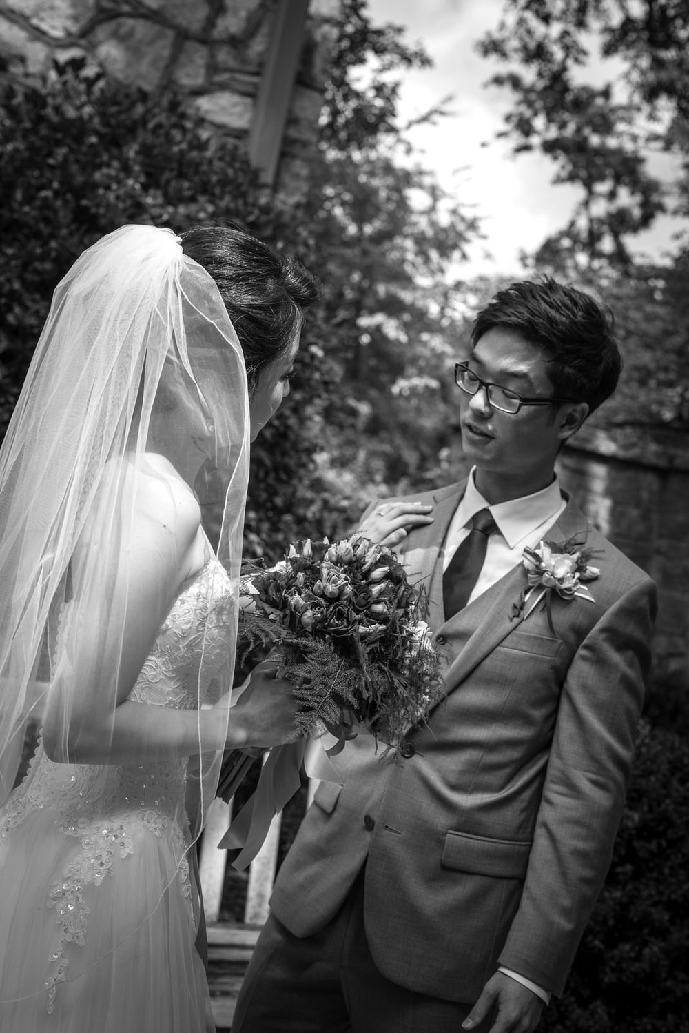 Bride & Groom at Rock Springs Presbyterian Church