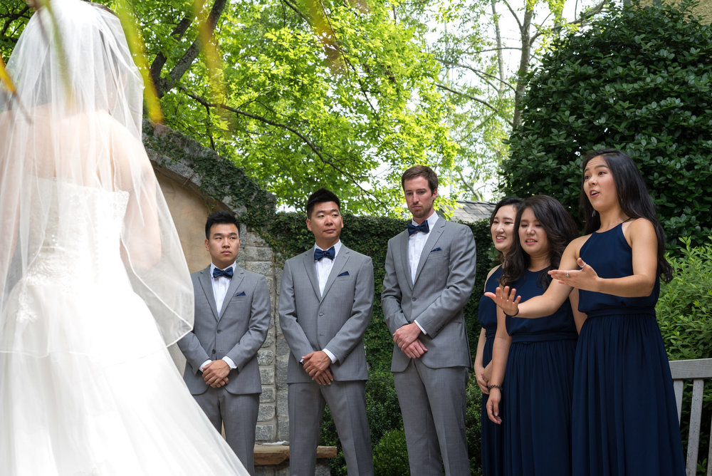 Bridal Party Surprise at Rock Springs Presbyterian Church First Looks