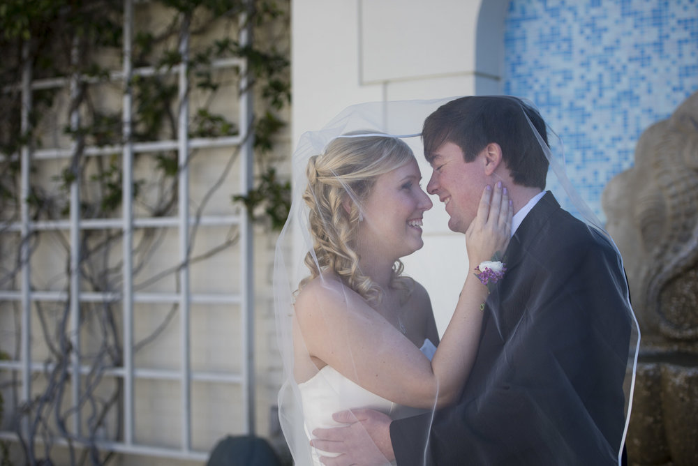 Bride and Groom at the Ponte Vedra Inn, Florida