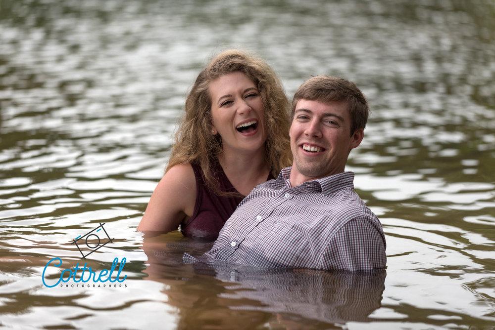Engagement Photo at Lake Allatoona