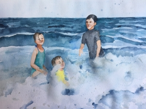 Finally, Beach Day © 2017, Pam Baumeister