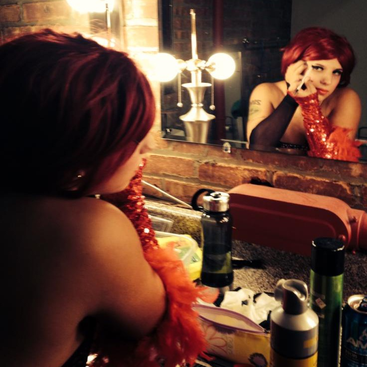 BACKSTAGE AT THE PALACE THEATRE 2011 WITH JAMIE LYNN