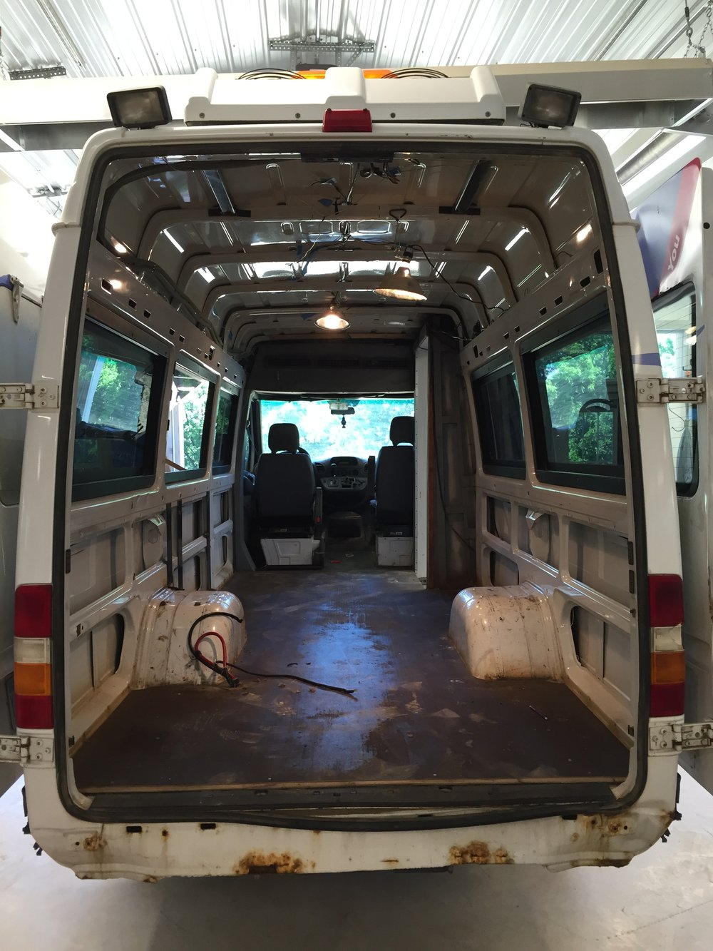 Before Conversion Sprinter Van