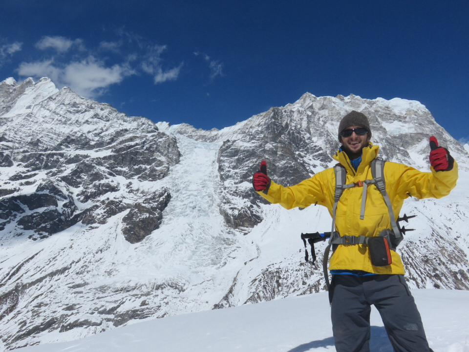 Pete on a two week trek through the Himalayas in Nepal