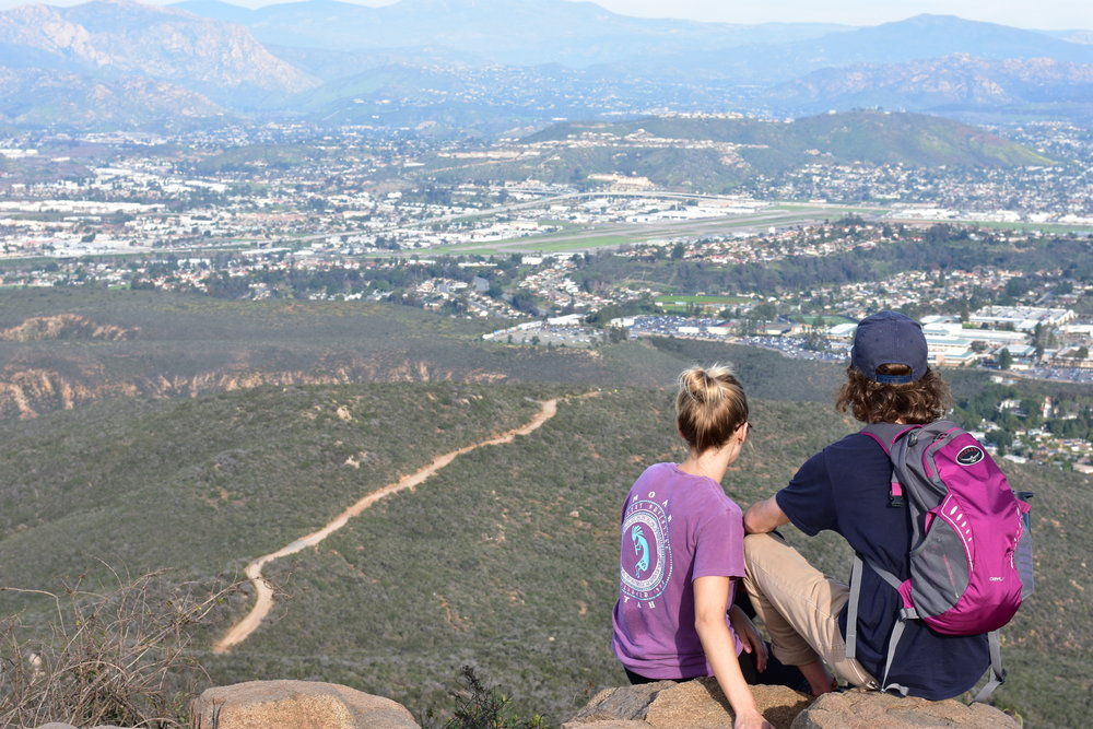 Enjoying the view after a hike in San Diego, CA.