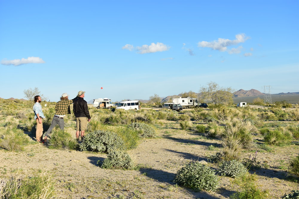 Playing bocce ball as usual - Joshua Tree National Park