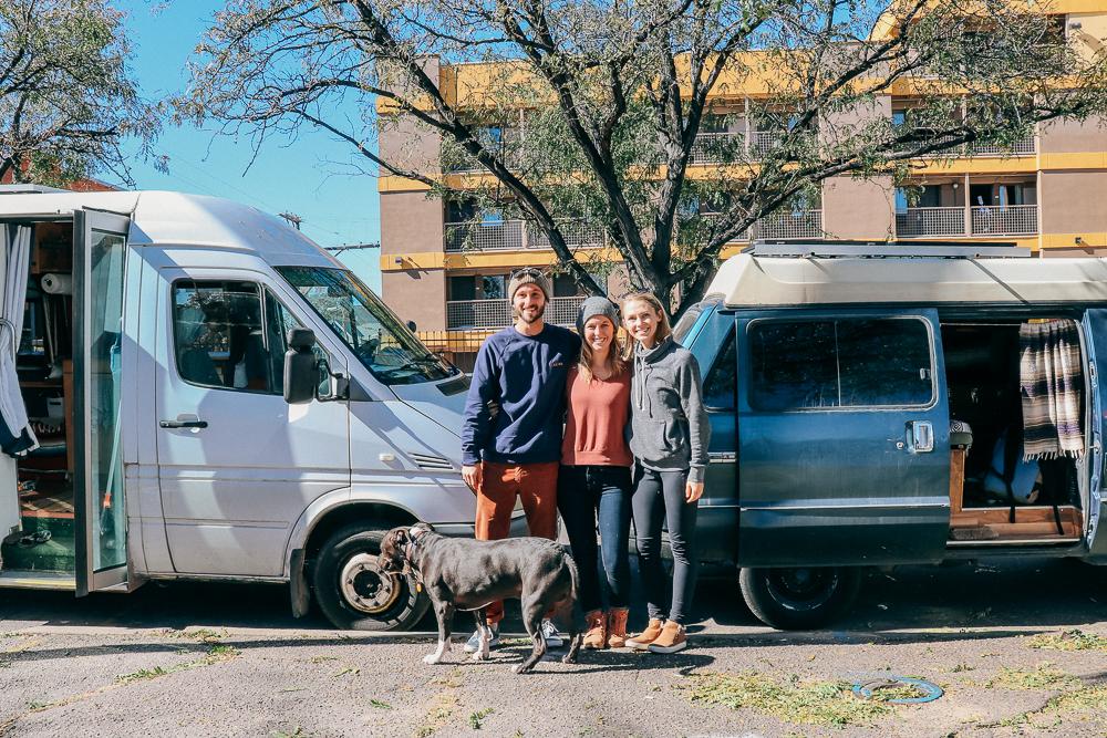 Street side van hangs with our friend Kathleen in Denver.