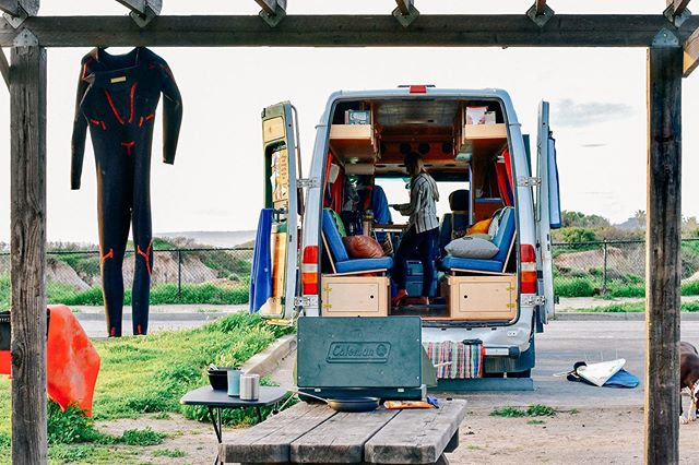 """May is already proving to be this year's busiest month yet for us. When things start to feel overwhelming and we need to go to our """"happy place"""" in our minds, this is where we'll be: - #vanlife #campervan #adventuremobile #minimalism #vanlifediaries #sprintervan"""