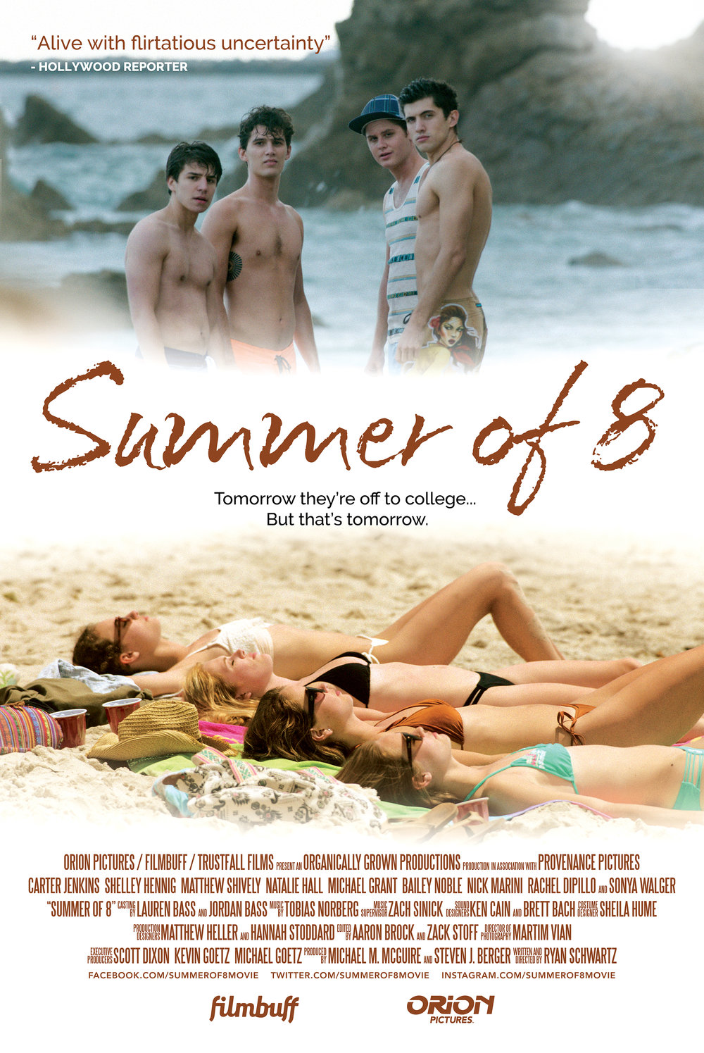 Rafe Pearlman's has two songs featured on:     Summer of 8 (Independent Feature Film)