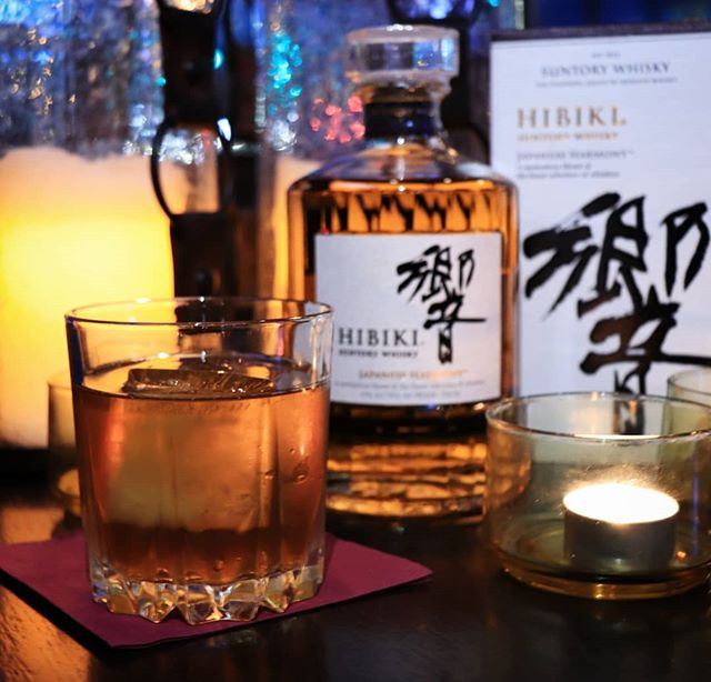 Nakamura is a Japanese whisky based cocktail that plays on the classic Manhattan 🥃 . . . . . Mixed with Hibiki @suntorywhisky , @anticaformula_official vermouth, @bodegaslustau sherry, @dashfirebitters Jerry Thomas' decanter bitter, and lemon oils.