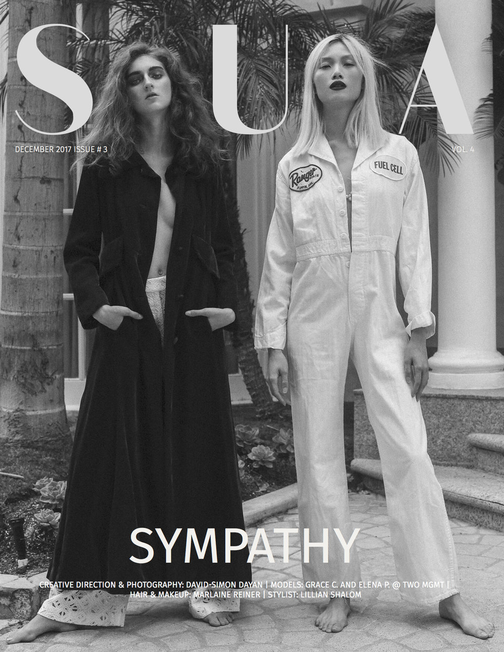 SYMPATHY / SHUBA MAG COVER STORY   Cover story, editorial for SHUBA MAGAZINE, December 2017.  Click title to be redirected.