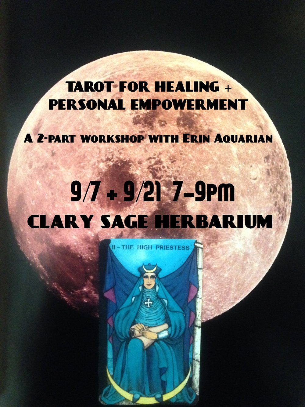 Register @ eventbrite.com/e/tarot-for-healing-empowerment-part-1-tickets-27290725294