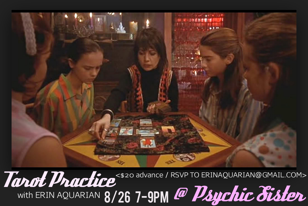 I am going on Tarot Tour! I will be in Olympia at Psychic Sister on 8/26-27!