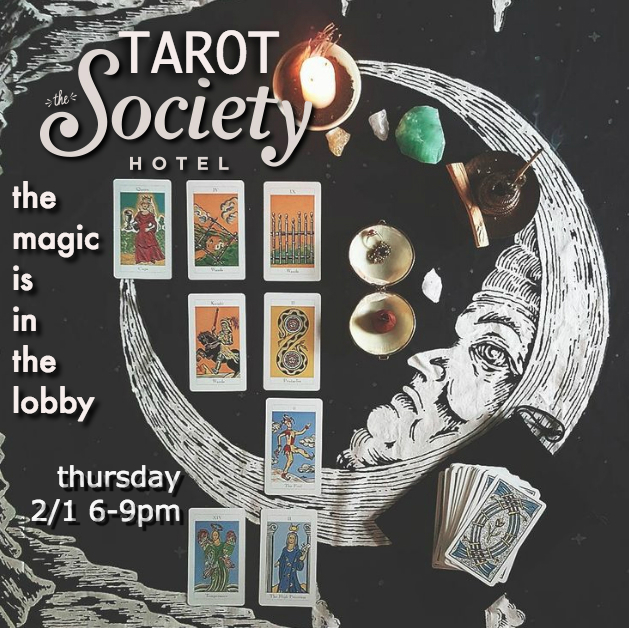 Donation based tarot talk at 6pm followed by fireside tarot readings in Downtown Portland
