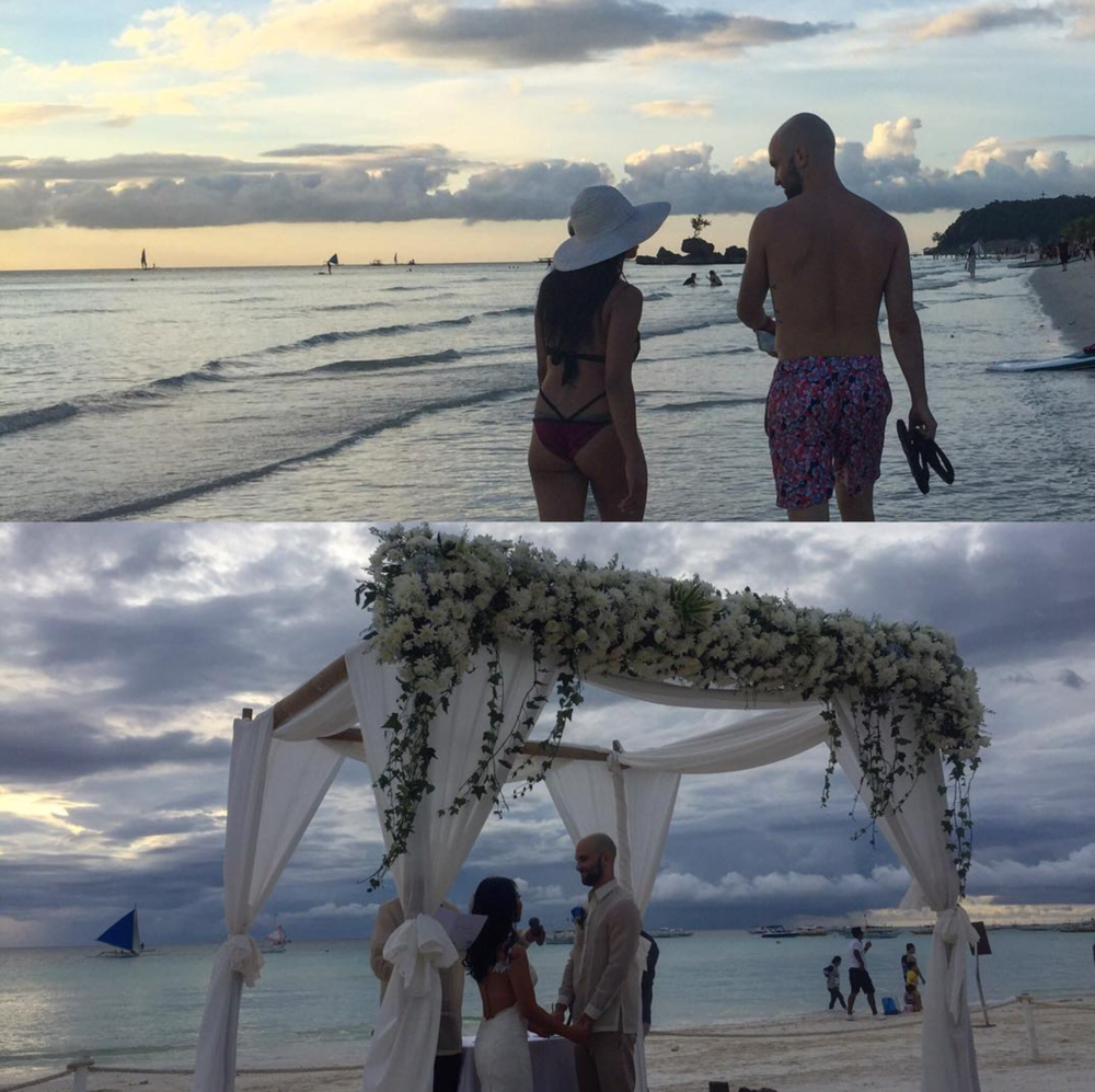 Camille and Justin Sherman's wedding. Discovery Shores, Boracay, Dec. 16, 2016.