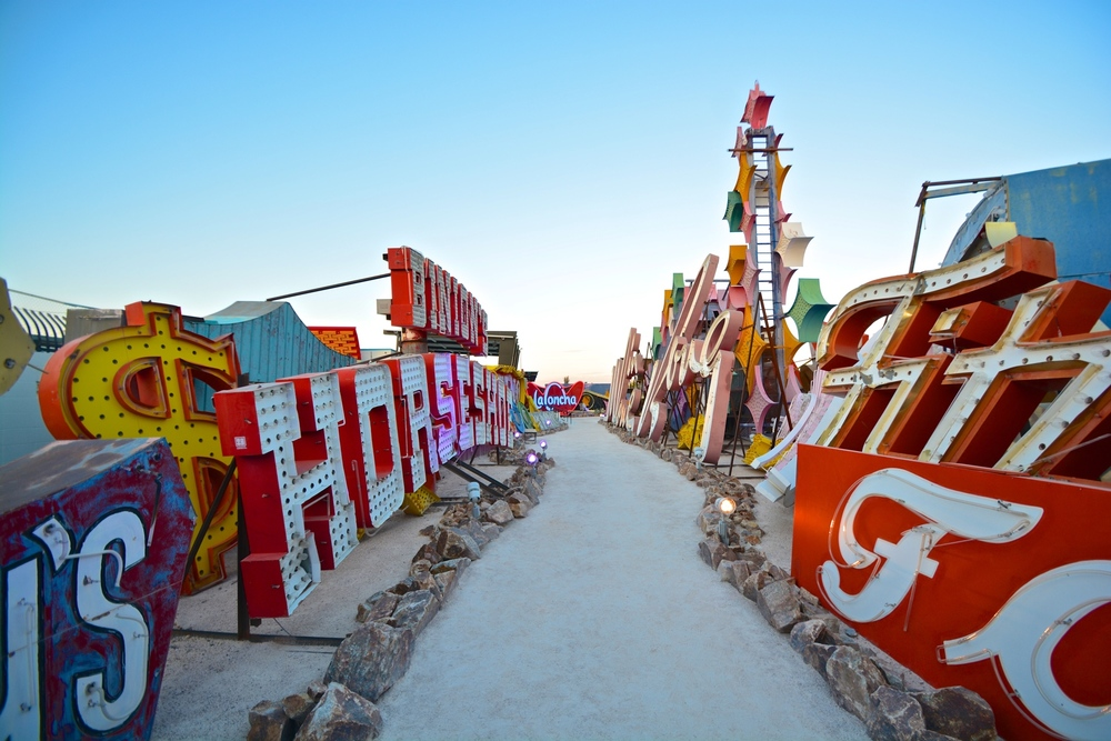 Considered to be both artistically and historically significant to the culture of the city,The Neon Boneyardfeatures signs from old casinos and other businesses displayed outdoors on over 6 acres.