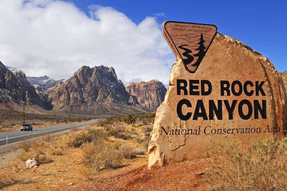 Red Rock Canyon , located 20 miles from the Las Vegas Strip presents awe-inspiring views most wouldn't expect to see near a major metropolitan city.