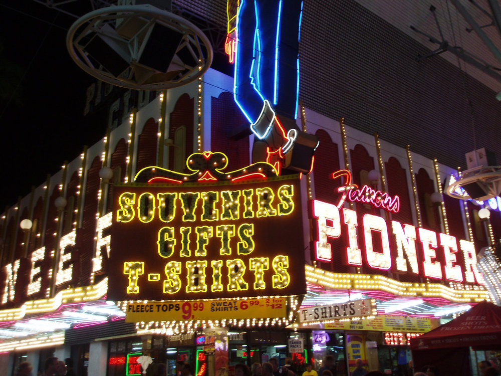 Fremont Street is the second most famous street in the Las Vegas Valley after the Las Vegas Strip, located in the heart of the downtown casino corridor.