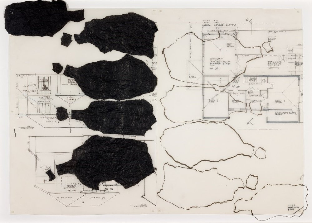 Section CC  2017, ink and collage on tracing paper, 72x100cmm, was selected finalist for Grace Cossington Smith Award