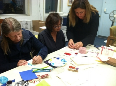 Women's Ministry card-making party
