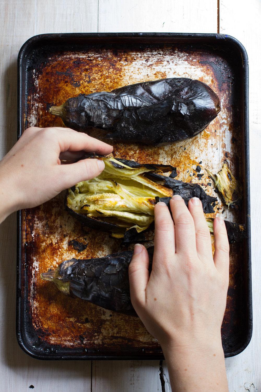 Barbeque roasted babaganoush with pomegranite and lemon-1.jpg