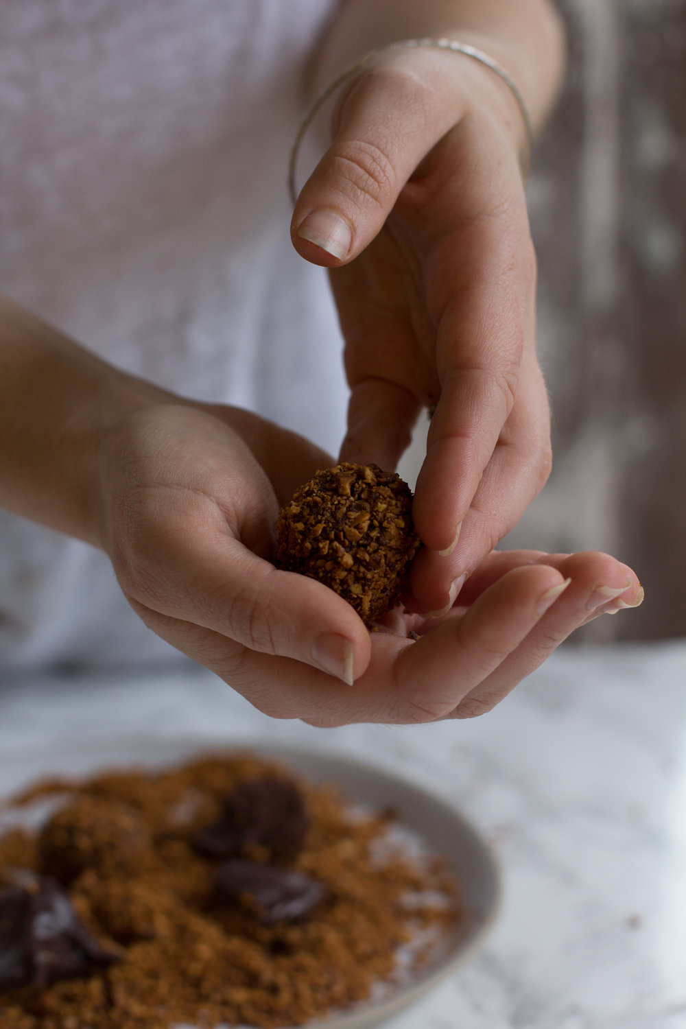 Vegan dark chocolate earl grey truffles - the perfect morsel to whip out after a fantastic meal