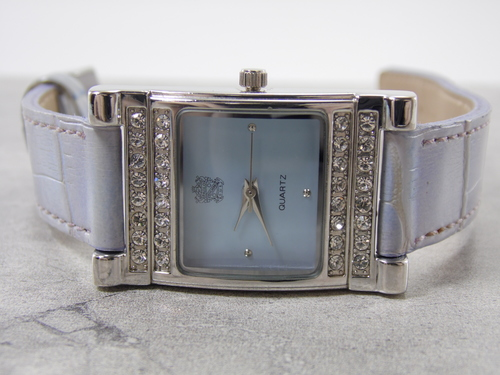 131d6339e7b Vintage Paolo Gucci Blue Face Dial   Cubic Zirconia Women s Adjustable  Leather Watch — New Avenue