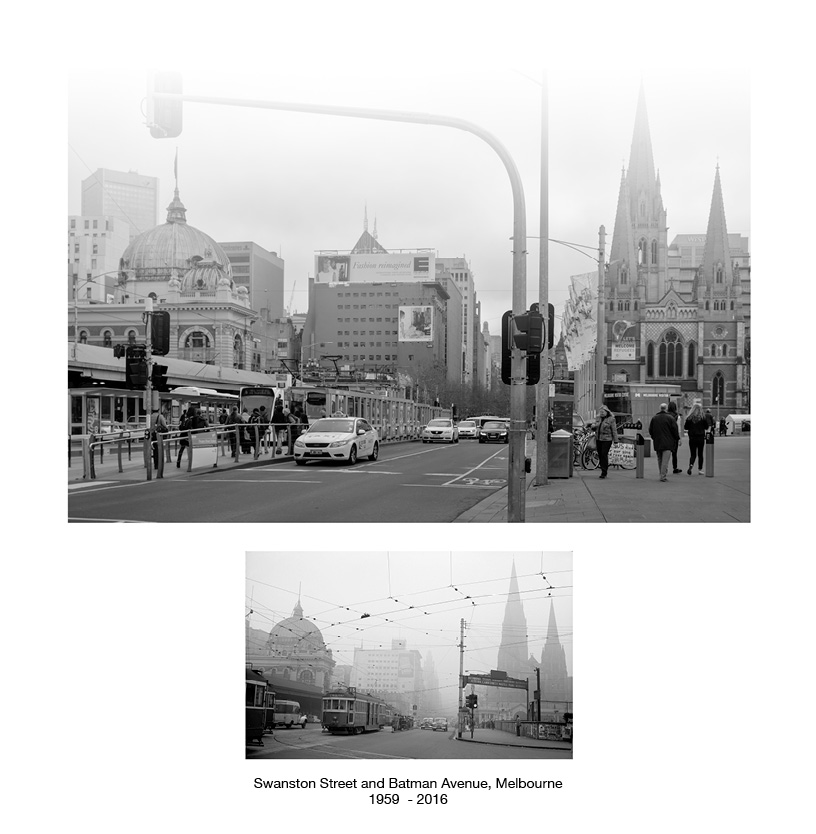 Swanston Street and Batman Avenue 1958 - 2016