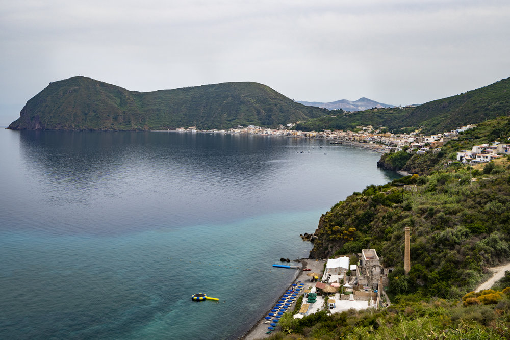 Panorama - Whites Beach & Canneto, Lipari