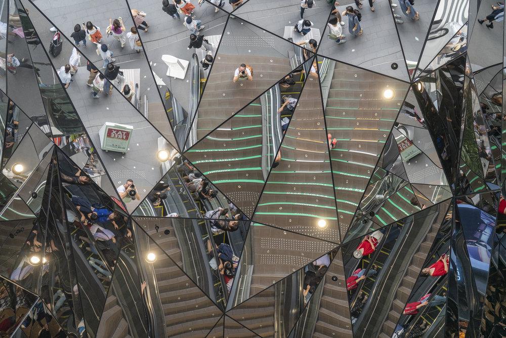Shopping complex entrance, Tokyo