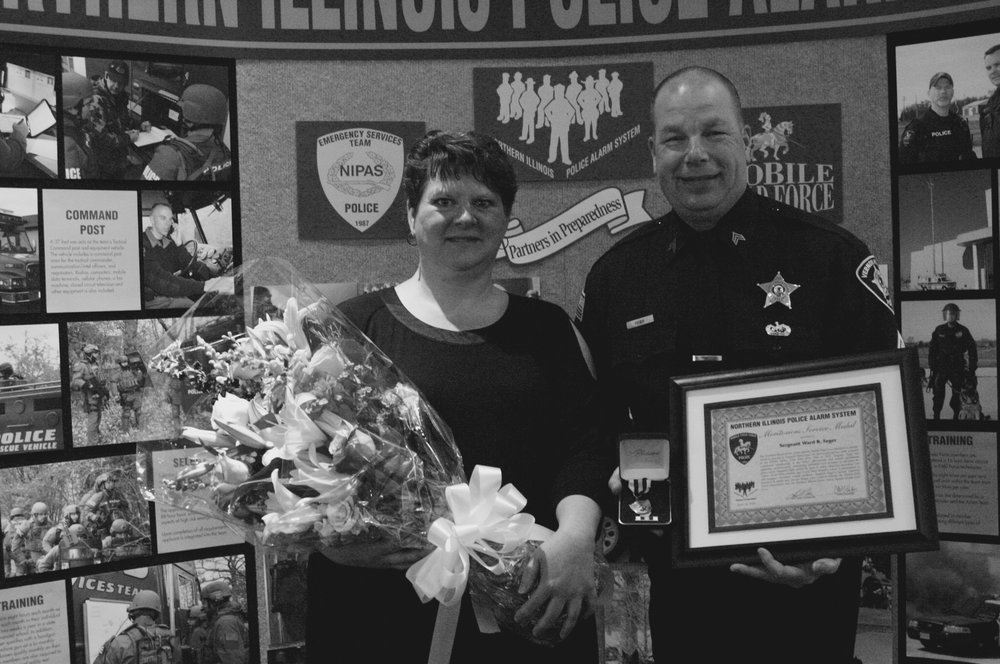 Sergeant Feger and his wife, Tina. Image courtesy of Feger.