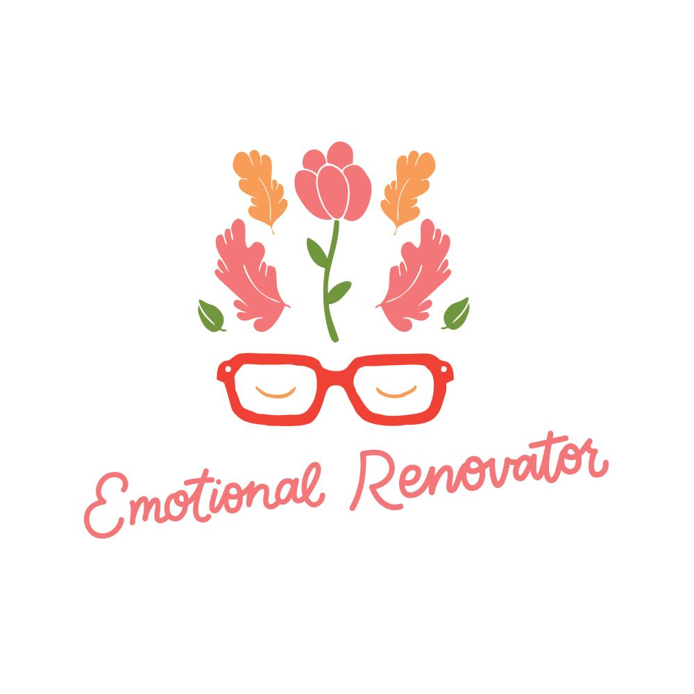 Branding refresh for Emotional Renovator with Carla McRae's illustration