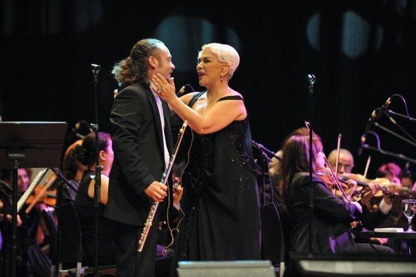 Turkish Diva Sezen Aksu, at the Lutfi Kirdar Orchestra Hall with Istanbul Symphony Orchestra, Istanbul