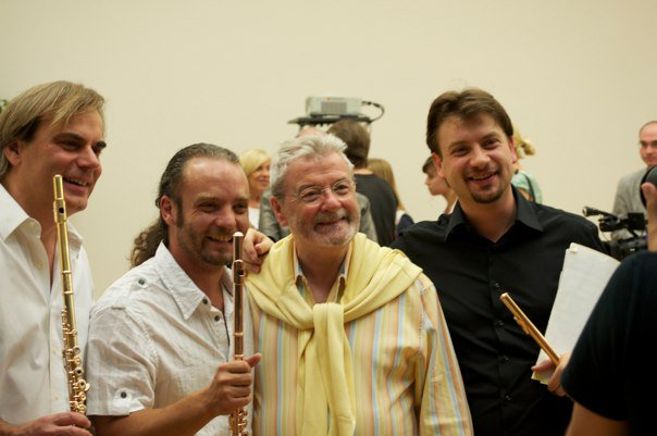Andrea Greminelli, Sir James Galway, Andrea Olivia