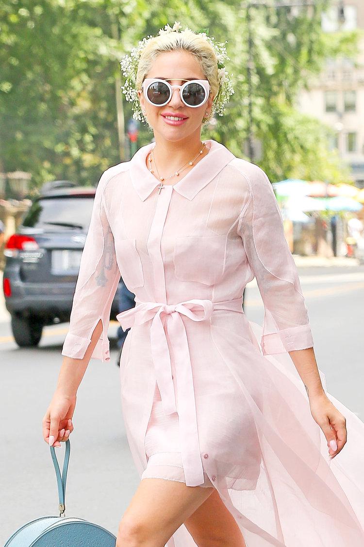 Lady Gaga wearing GAMINE