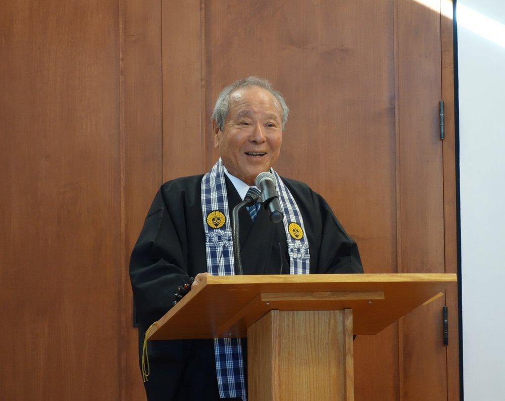 Rev. David Nakamoto gave today's Dharma Talk
