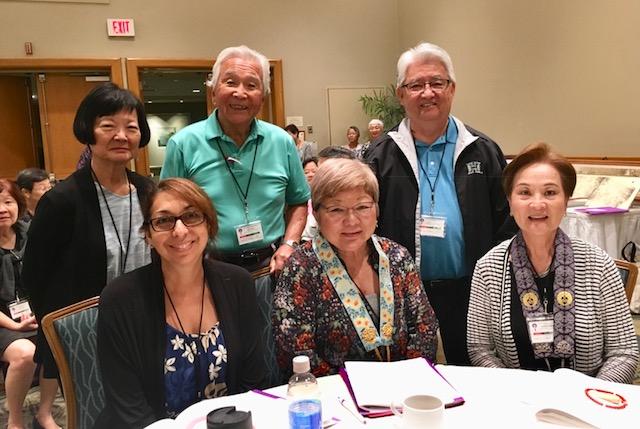 Top row: Shirley Yanagisawa, Kuki Kukino, Dennis Tashiro. Bottom row: Jennifer Kane, Prudence Kusano, Cynthia Rodriguez