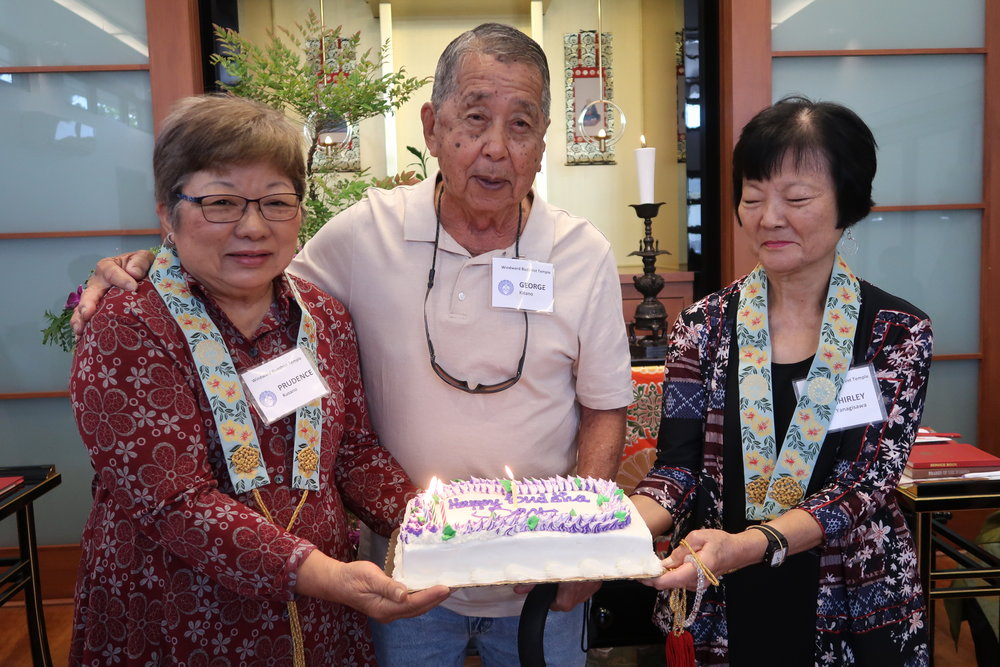 We celebrated April birthdays. Happy birthday Prudence, George, and Shirley!
