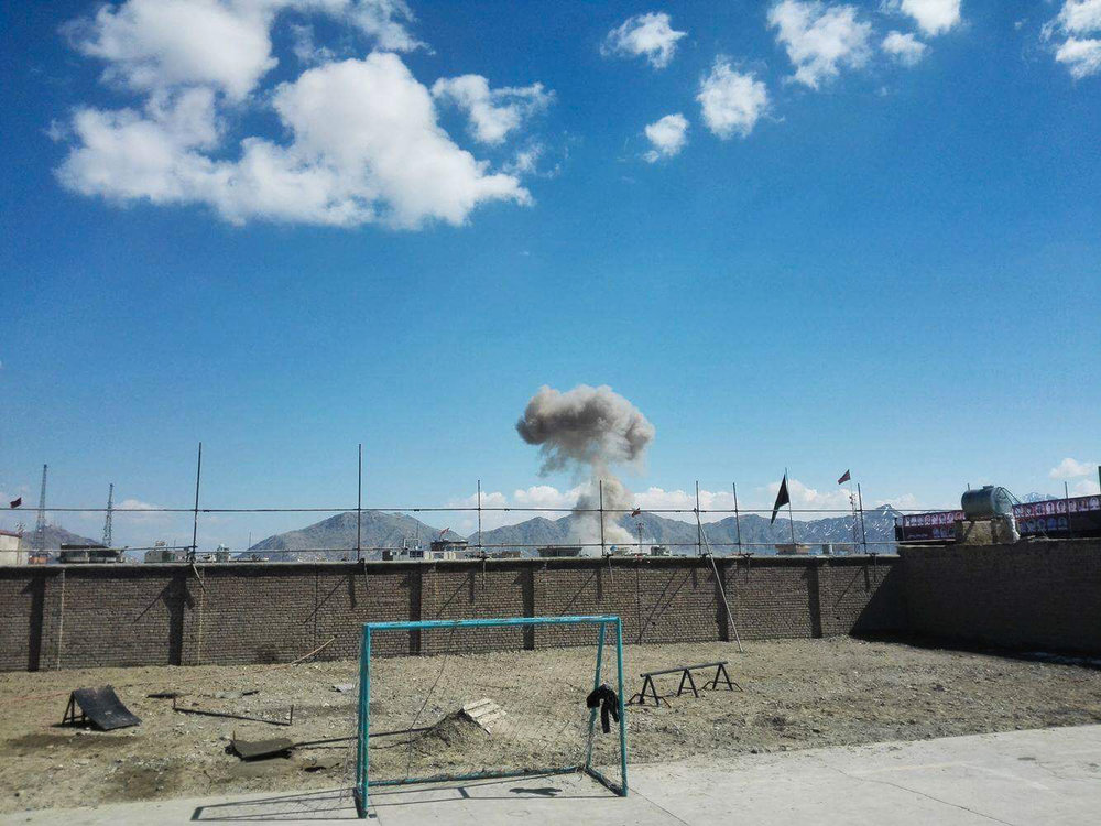 The explosion - seen from a different angle