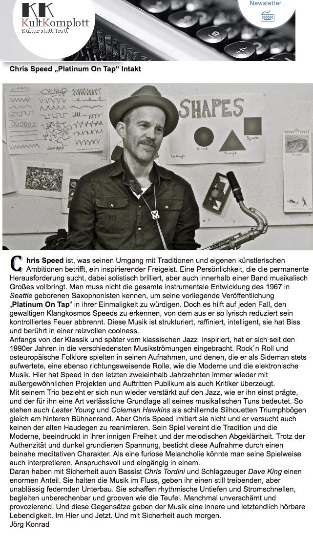 Jörg Konrad, Kultur Komplott (Germany)