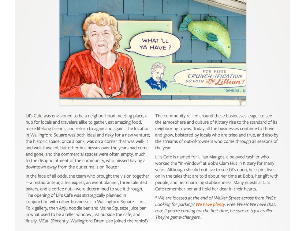 Lil's Cafe Story page, 2