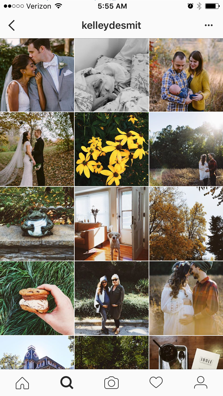 Remember, the goal on Instagram is to identify styles you like!