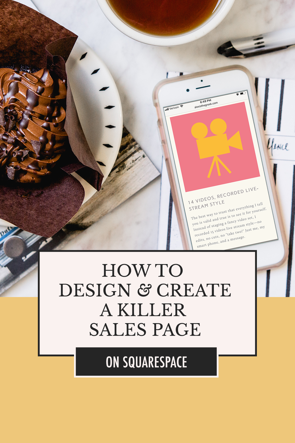 How to Create a Sales Page that Converts: Squarespace Tip and Tricks with Alexis the Greek