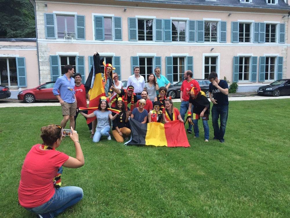 Un séminaire d'un société belge pendant la coupe du monde de 2016
