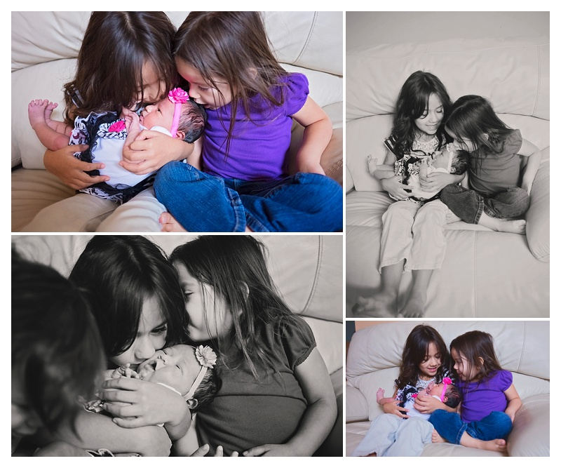 In-Home Newborn Sibling Photos