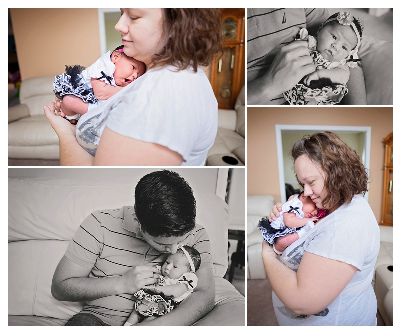 In-Home Newborn Photos with Parents